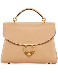 67c1b82f0c2a Ferragamo - Margot Medium Top Handle Bag Almond beige - Lyst
