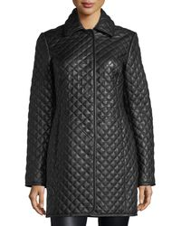 Neiman Marcus | Quilted Leather Trenchcoat | Lyst