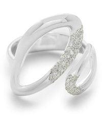 Ippolita Cherish Small Bypass Ring With Diamonds - Metallic