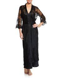 Vivis - Jamaica Long Lace Robe - Lyst