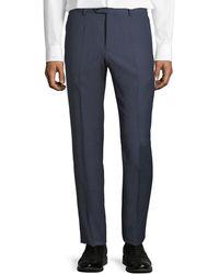 Emporio Armani   Micro-check Straight-leg Trousers   Lyst