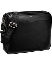 Montblanc - Zip-top Leather Messenger Bag - Lyst