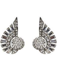 Ben-Amun - Crystal Deco Clip-on Earrings - Lyst