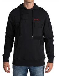 PRPS Men's Hoodie With Patch Detail - Black