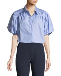 Camilla & Marc   Riley Ruched Puff-sleeve Shirt   Lyst