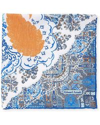 Edward Armah - Large Floral-paisley Pocket Square - Lyst