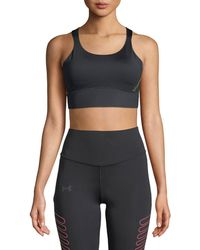 Under Armour - Breathelux Perforated Mid Performance Sports Bra - Lyst