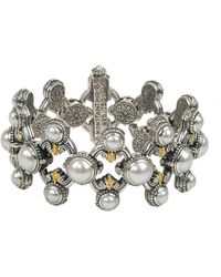 Konstantino - Thalia Multi-pearl Open Bracelet - Lyst
