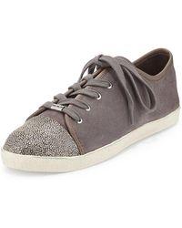Delman - Magie Low-top Suede Sneakers - Lyst