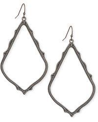 Kendra Scott Sophee Statement Drop Earrings In Gunmetal - Metallic