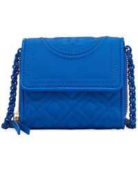 Tory Burch - Fleming Mini Wallet On Chain - Lyst