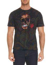 Robert Graham - Skull Rose-graphic Paisley-print T-shirt - Lyst