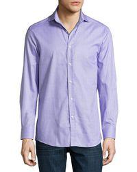 Ralph Lauren - Textured Cotton Dress Shirt - Lyst