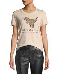 COACH - Dinosaur Print T-shirt - Lyst