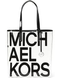 72e20a0ce MICHAEL Michael Kors - The Michael Large North/south Logo Tote Bag - Lyst