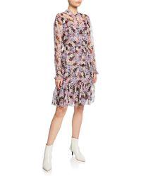 0ad6132945 Erdem - Danielle Floral-print Button-front Dress - Lyst