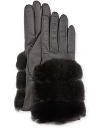 Gala - Leather Banded-fur Gloves - Lyst