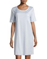 Hanro - Cotton Deluxe Short-sleeve Big Sleepshirt - Lyst