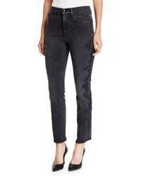 Jonathan Simkhai - E-cig Lace Applique Straight-leg Jeans - Lyst