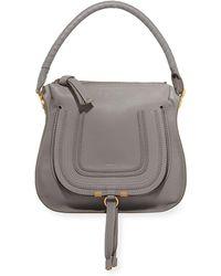 Chloé - Marcie Medium Leather Hobo Bag - Lyst