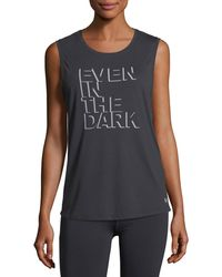 Under Armour - Even In The Dark Graphic Muscle Tank Top - Lyst