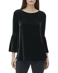 Lafayette 148 New York - Roslin Bell-sleeve Blouse In Velvet - Lyst