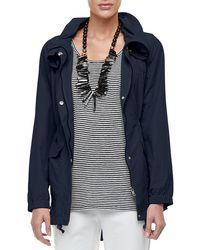 Eileen Fisher Clssc Wthr Resistant Jacket - Blue