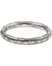 Konstantino - Delos Two-tone Engraved Hinge Bracelet, Size M - Lyst