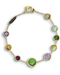 "Marco Bicego - Jaipur 18k Gold Mixed Semiprecious Stone Bracelet, 7"" - Lyst"