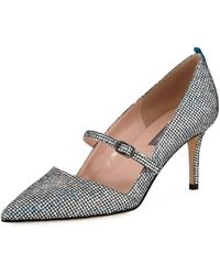 SJP by Sarah Jessica Parker Nirvana Iridescent 70mm Pumps, Silver - Metallic