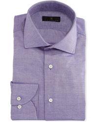 Ike Behar - Gold Label Cotton-cashmere Dress Shirt - Lyst