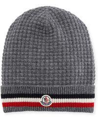 Moncler - Men s Tricot-knit Beanie Hat - Lyst f5933f2fb98