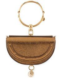 Chloé | Nile Small Metallic Bracelet Minaudiere Bag | Lyst