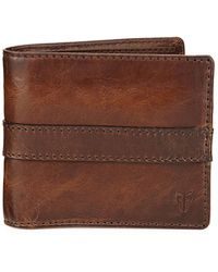 Frye | Oliver Leather Bi-fold Wallet | Lyst