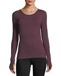c2096500bc1f21 Michi - Bolt Scoop-neck Long-sleeve Running Top With Mesh - Lyst