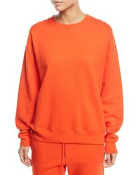 Elizabeth and James - Lia Crewneck Long-sleeve Cotton Sweatshirt - Lyst