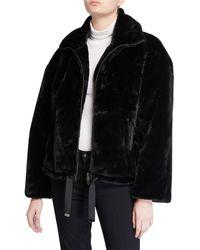 Rebecca Minkoff Brigit Faux-fur Jacket - Black