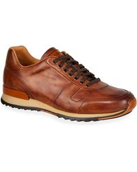 Neiman Marcus - Men's Soft Bultaco Leather Lace-up Oxford Sneakers - Lyst