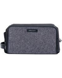 Hook + Albert - Mélange Leather-trim Toiletry Bag - Lyst