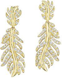 Mimi So Phoenix Wavy Diamond Dangle Earrings - Metallic