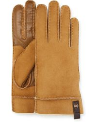 UGG - Tenney Suede & Leather Gloves W/ Shearling Lining - Lyst