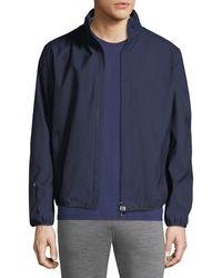 Z Zegna - Solid Weave Zip-front Blouson Jacket - Lyst