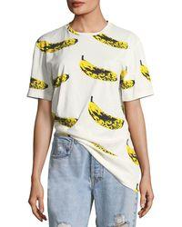 Libertine - Crewneck Velvet Banana T-shirt - Lyst