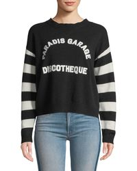 Mother - The Boxy Jumper Striped Graphic Pullover Sweater - Lyst