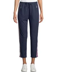 Rebecca Minkoff - Jolie Side-stripe Cropped Track Pants - Lyst