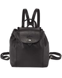 Longchamp - Le Pliage Cuir Backpack - Lyst