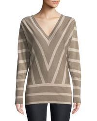 Lafayette 148 New York - Striped Wool Dolman-sleeve Sweater - Lyst