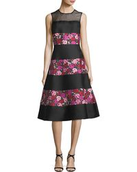 Kate Spade - Sleeveless Salon Rose Palma Fit-and-flare Dress - Lyst