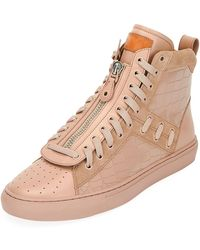 Bally - Men's Hekem Croc-embossed Leather High-top Sneakers - Lyst