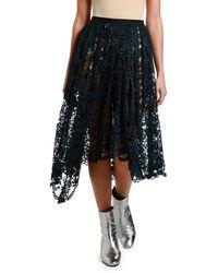Antonio Marras Pleated Knee-length Lace Skirt - Black